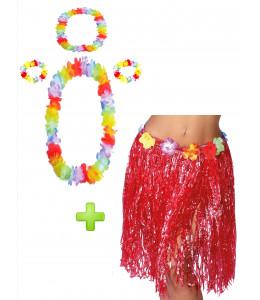 Disfraz Hawaiana Rojo