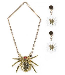 Set de Araña  Collar y Pendientes