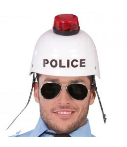 Casco Policia con Luz