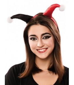 Diadema Arlequin Roja y Negra