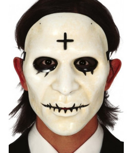 Mascara Blanca con Cruz