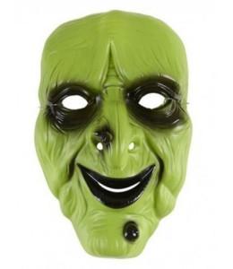 Mascara Bruja Verde PVC