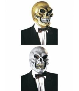 Mascara Calavera Oro y Plata