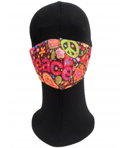 Mascarilla Hippie Peace Adulto