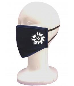 Mascarilla Tela Negra Eguzkilore Blanco
