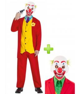 Disfraz de Joker Rojo con mascara smile
