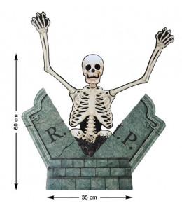 Lapida de Carton con Esqueleto