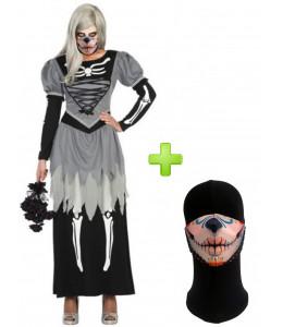 Disfraz de Catrina Novia con Mascarilla