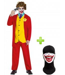 Disfraz de Joker Rojo con mascarilla