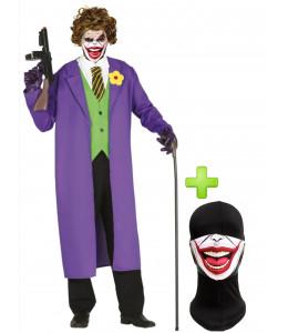 Disfraz de Joker con mascarilla