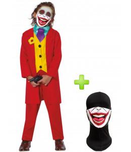 Disfraz de Joker Rojo Niño con mascarilla
