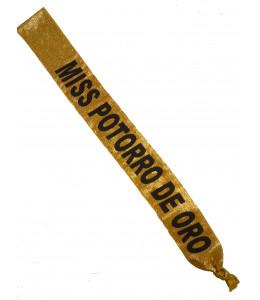 Banda de Miss Potorro de Oro para Despedidas de Soltera