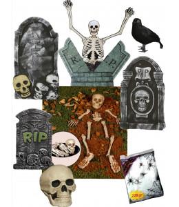 Decoracion Halloween Cementerio