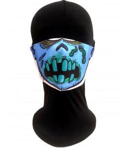 Mascarilla Halloween Zombie Azul Adulto