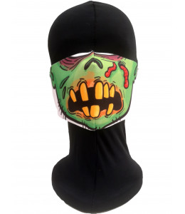 Mascarilla Halloween Zombie verde Adulto
