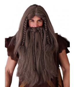 Peluca y Barba Vikingo