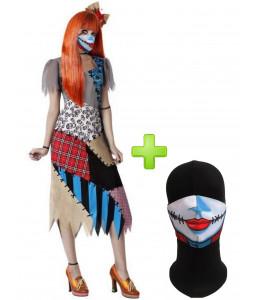 Disfraz de Catrina Flores con Mascarilla