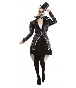 Disfraz de Esqueleto Elegante Mujer