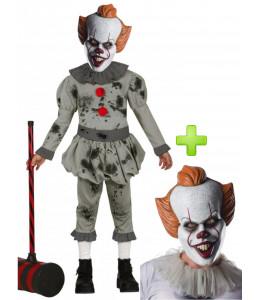 Disfraz de Payaso Asesino Cine Mascara Infantil