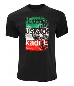 Camiseta Euskadi Tricolor Negra