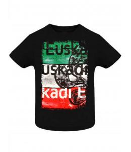 Camiseta Euskadi Tricolor Negra Infantil