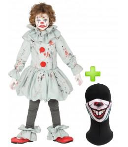 Disfraz de Payaso Asesino de cine con mascarilla