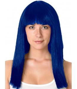 Peluca Melena Cleopatra Azul