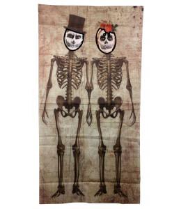 Photocall Pareja de Esqueletos