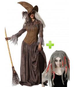 Disfraz de Bruja Mala con Peluca