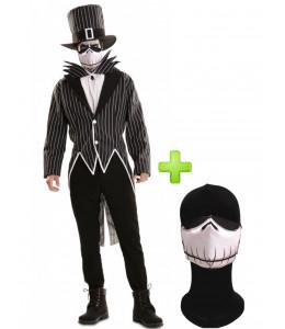 Disfraz de Mr. Skeleton con mascarilla - Disfraces Halloween