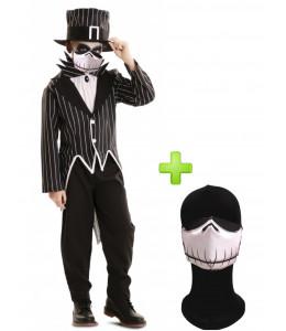 Disfraz de Mr. Skeleton con mascarilla infantil - Disfraces Halloween