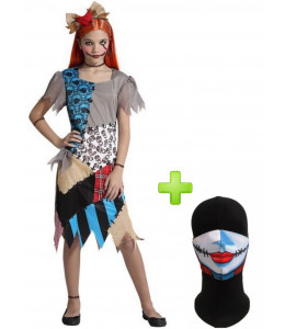 Disfraz de Muñeca de trapo con Mascarilla  infantil - Disfraces Halloween