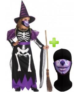Disfraz de Bruja Esqueleto con Mascarilla infantil - Disfraces Halloween