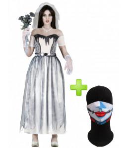 Disfraz de Novia Cadaver con Mascarilla para mujer - Disfraces Halloween