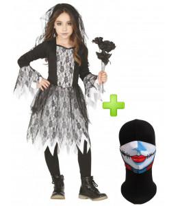 Disfraz de Novia Fantasma con Mascarilla infantil - Disfraces Halloween