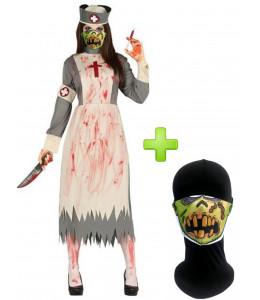 Disfraz de Doctora Zombie con mascarilla - Disfraces Halloween