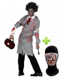Disfraz de Doctor Zombie con mascarilla - Disfraces Halloween