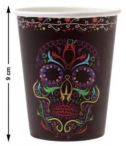 Vasos Halloween Calavera Negra