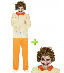 Disfraz de Joker Maniaco con peluca - Disfraces Halloween