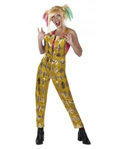 Disfraz de Harley Quinn Mono Dorado