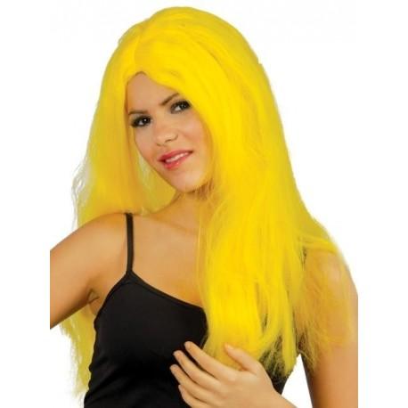 Peluca Melena Larga Amarilla