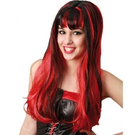 Comprar Peluca Roja y Negra por solo 7.00€ – Tienda de disfraces online 6808fb3b4e9