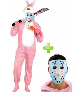 Disfraz de Psicopata Canibal con mascara - Disfraces Halloween
