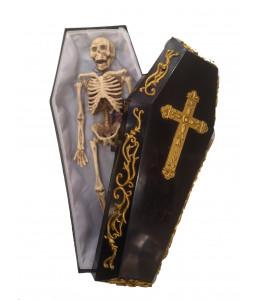 Ataud con Esqueleto 33cm