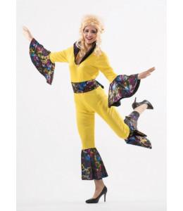 Disfraz de Buzo Disco Amarillo Mujer