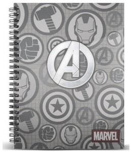 Cuaderno Advengers Marvel A4