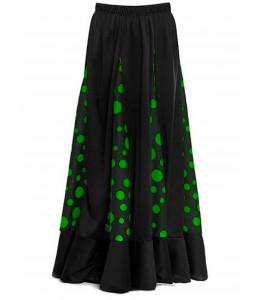 Falda Sevillana con Lunares verde