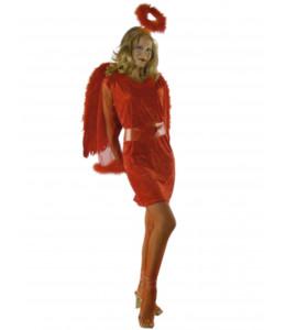Disfraz de Angel Rojo Mujer