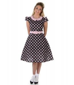 Vestido lunares años 50