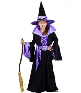 Disfraz de Bruja Negra y Morada infantil